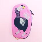 再入荷《鳥/ドードー》 ガーゼポーチ  dodo 絶滅種 morita MiW ペンケース 筆箱 ピンク