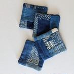 チェンマイ ヤオ族 藍染め刺し子のハンドメイドコースター