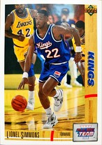 NBAカード 91-92UPPERDECK Lionel Simmons #36 KINGS