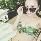 Bikini♡グリーンボタニカルバンドゥビキニ