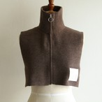 PHEENY【womens 】half cardigan zip snood