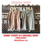 DOBBY STRIPE ORIGINAL PATTERN OPEN COLLAR SHIRT