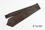 ルイファグラン|クラヴァット ボワバン|コラボ|稀少|'50~'80年代デッド生地使用ネクタイ|ビッグペイズリー柄|グリーン
