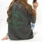 California カリフォルニア バックロゴ ビンテージ Tシャツ ユニセックス チャコール