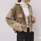 【アウター】ファッション無地ボタン折襟23873926