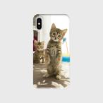 ベンガル猫iPhone Ⅹ、XS用スマホケース