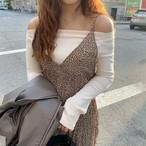 オフショルダーロングT オフショルダー オフショル ロンT 韓国ファッション