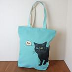 【レオンミント】シンプル帆布トートバッグ【猫柄】