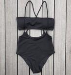 Bikini♡レイヤードバンドゥビキニ ブラック