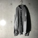 [comme des garacons] switching checked shirt