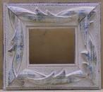 ミニ額15-6741ブルー 額縁寸法55mm×46mm 窓枠寸法43mm×34mm 壁掛け用/箱なし