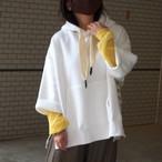 【sandglass】custom foodie(pattern A white ) / 【サンドグラス】カスタムフーディ(パターンA ホワイト)