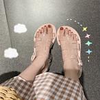【shoes】カジュアルプラスチック丸トゥ普通サンダル