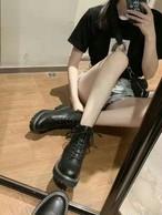 ステッチウォーカー ウォーカーブーツ ウォーカー 韓国ファッション