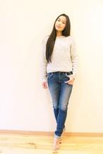 ストレートデニム(深海色) Straight Jeans (Deep Sea Blue)