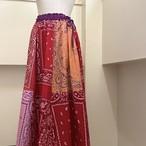 【RehersalL】bandanna flare skirt(red A) /【リハーズオール】バンダナフレアスカート(レッドA)