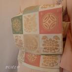 正絹 市松の袋帯