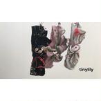 花柄刺繍ワイヤーリボン(ピンク、ペールグレー、ブラック)