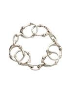 bone shaped carabiner bracelet.-S-