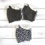 【おおやまとみこ】立体布マスク(黒)・レディースサイズ/マスク