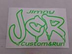 JCRオフィシャルロゴステッカー 蛍光グリーン