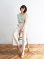 color wide slacks(ivory)