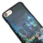 iPhoneXS/XSmax対応★iPhone/Xperia/Galaxy スマホケース(都会の夜景)[螺鈿アート・天然貝ケース]