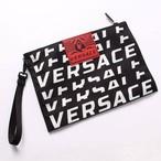 VERSACE(ヴェルサーチ) ヴェルサーチェ クラッチバッグ ポーチ メンズバッグ ロゴ BLACK ブラック DP85102 DNY03 [全国送料無料] r014753