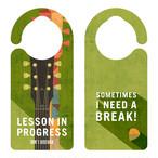 LESSON IN PROGRESS 練習中 ギター[1130] 【全国送料無料】 ドアサイン ドアノブプレート