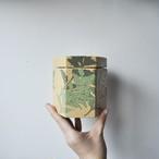 【よもぎ柄_六角茶筒_】vintage