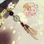 1点物★桜刀と和タッセルのストラップ