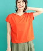 M83303:星柄刺繍コンパクト変形Tシャツ