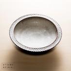 [山本 雅則]鎬カレー皿(白)