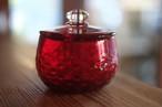 【カンナカガラス工房◆村松学】◆ふたもの<赤>◆再々入荷◆new!