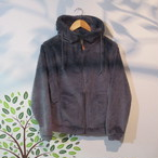 SHERPA FLEECE ZIP PARKER COL.CHARCOAL