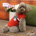 9。Paris Dog【正規輸入】犬 服 Tシャツ ホワイト レッド 春 夏 秋物