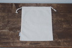 100%コットンのシンプルな巾着袋【M】サイズ【Drawstring Bag】値下げ!!