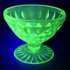 【レアです!】ウランガラス ディプレッションガラス ジャネットグラス シャーベットグラス