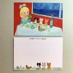 POST CARD「Trois chats et trois poissons 」no.180