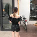 retro fril off shoulder 2196