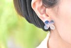 アジサイ【L/藍染】4枚花弁のピアス/イヤリング 14kgf