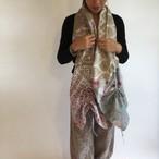 Pema+Love Shirred Cotton Stole コットンギャザーストール