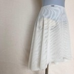 ◆Minimalist Ballet Skirt: WHITE (ミニマリスト・プルオンバレエスカート(白))