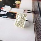 粒々squareリング silver