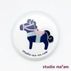 【MOKUBA】カンバッジ ミニ(04-白地×ブルーベリー)