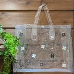☆SALE☆【オンライン限定価格¥2,970→¥2,200➡¥1,870】No392クリアビニールバッグ横型(花色モノトーン)