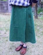 受注製作 お好きなお色が選べる カラーリネンラップスカート