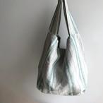 Green Stripe Linen Bag