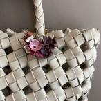【オンライン限定価格¥3,960→¥2,970】No441ミニフラワーレイ2Wayバッグチャーム(花色ラメピンク・パープル・ホワイト)