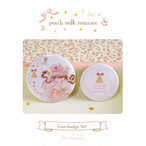 Button badge set / peach milk romance